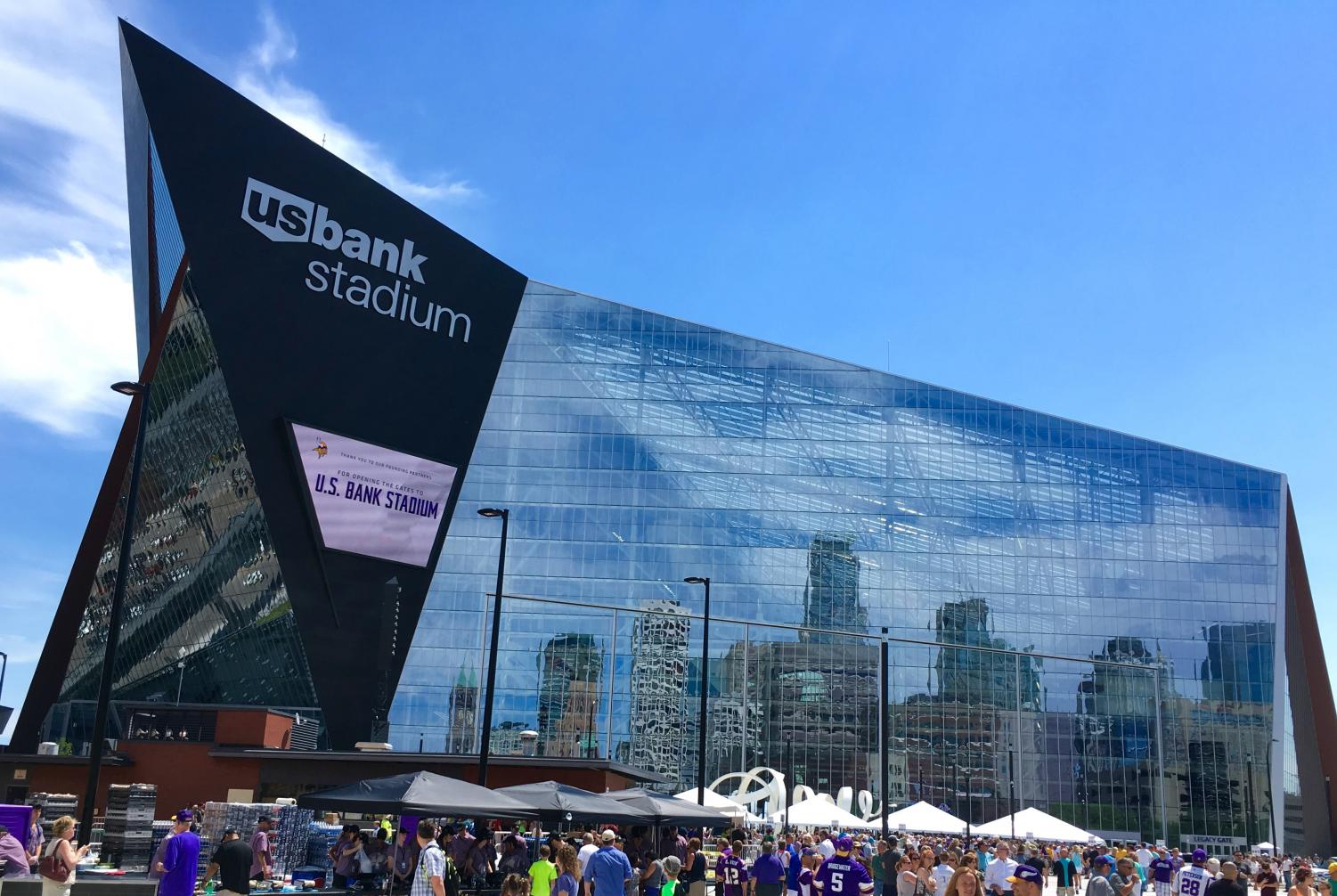 The Super Bowl took place in the US Bank Stadium.
