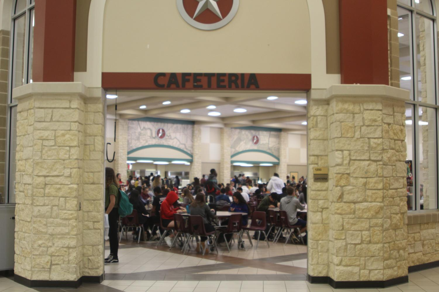 C lunch in the cafeteria
