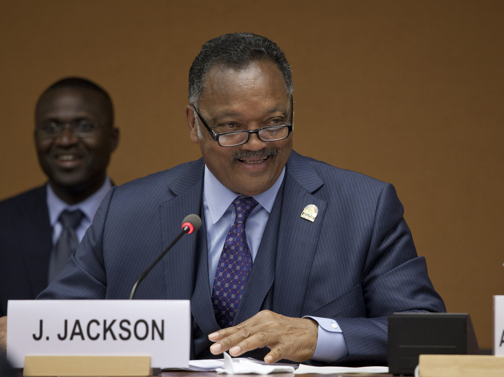 Jesse Jackson spoke at the UN.