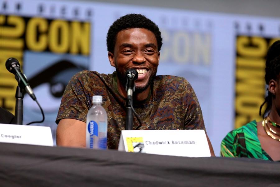 Chadwick+Boseman+speaking+at+the+2017+San+Diego+Comic+Con+International.