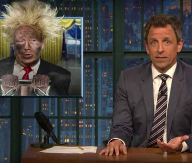 Seth Meyers Calls Trump President Wile E Coyote Hes Blown Himself Up A Thousand Times But Somehow He Keeps Walking Away