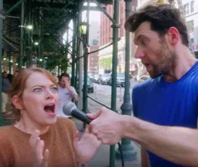 Emma Stone And Billy Eichner Talk To New Yorkers About Instagram In Billy On The Street Return Video