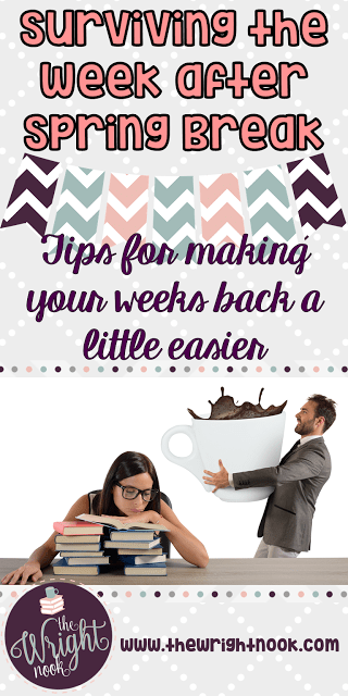 The end of the school year can be a bit chaotic and hectic. But when you implement these tips for returning from spring break, things are sure to go a bit smoother! Click through to get great tips and ideas for the week after spring break to help make sure the rest of your year runs smoothly. These ideas are great for your preschool, Kindergarten, 1st, 2nd, 3rd, 4th, 5th, and 6th grade classroom. But even middle school and high school teachers will find helpful tidbits!