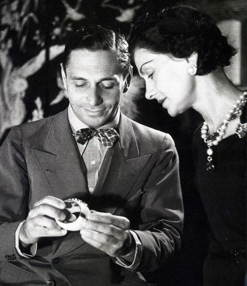 Fulco di Verdura and Coco Chanel admiring her Cuff Bracelet