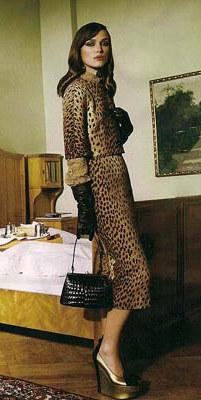 YSL leopard print, Yves Saint Laurent fashion, Kiera Knightley