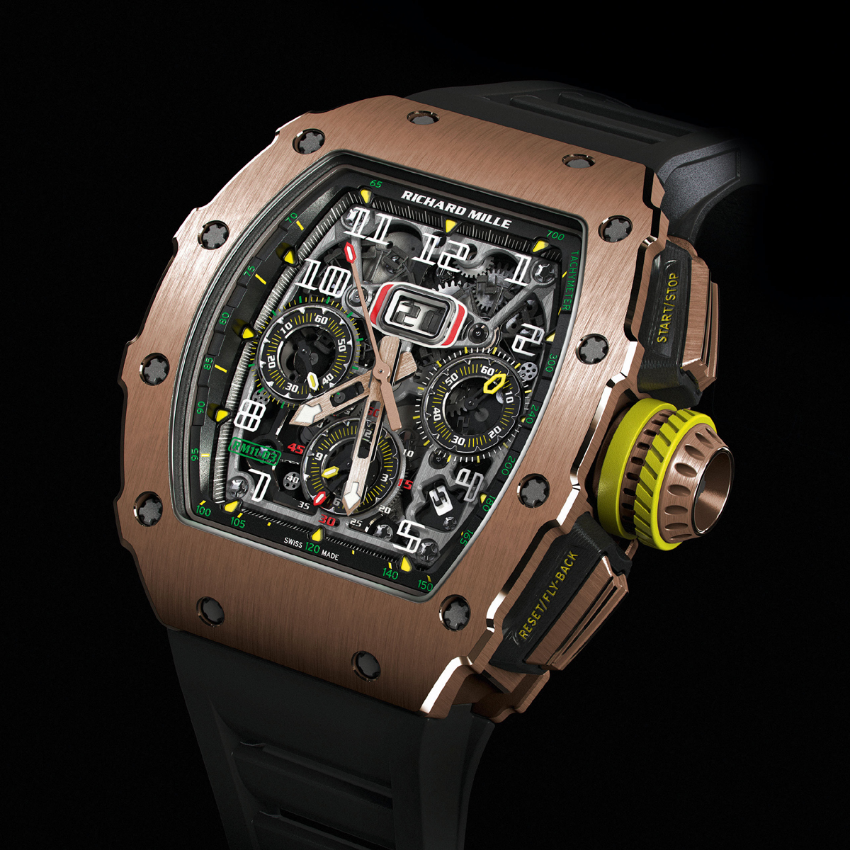 Richard Mille RM11-03 gold watch chronograph mens watch