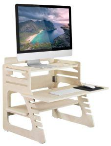 Mount-It! Wood Standing Desk, Ergonomic Height Adjustable
