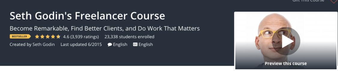 seth godins freelancer course, best courses for freelancers