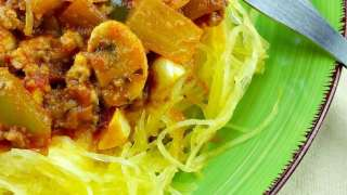 Instant Pot Spaghetti Squash With Meat Sauce