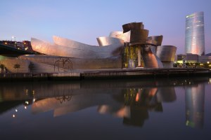 We'll visit the gleaming Guggenheim Museum in Bilbao as part of the travel writing class.