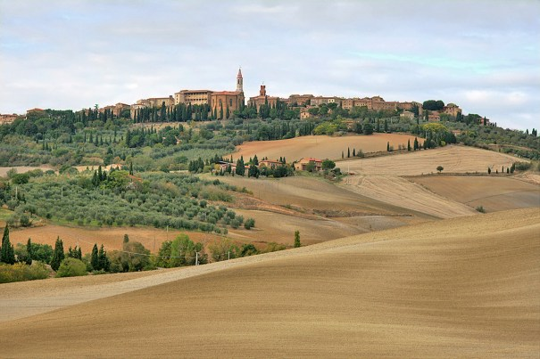 The architectural jewel box of Pienza, one of the destinations of the The Writer's Workshop Travel, Food and Wine Writing Class.