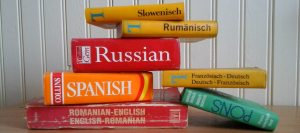 Foreign language books and dictionaries