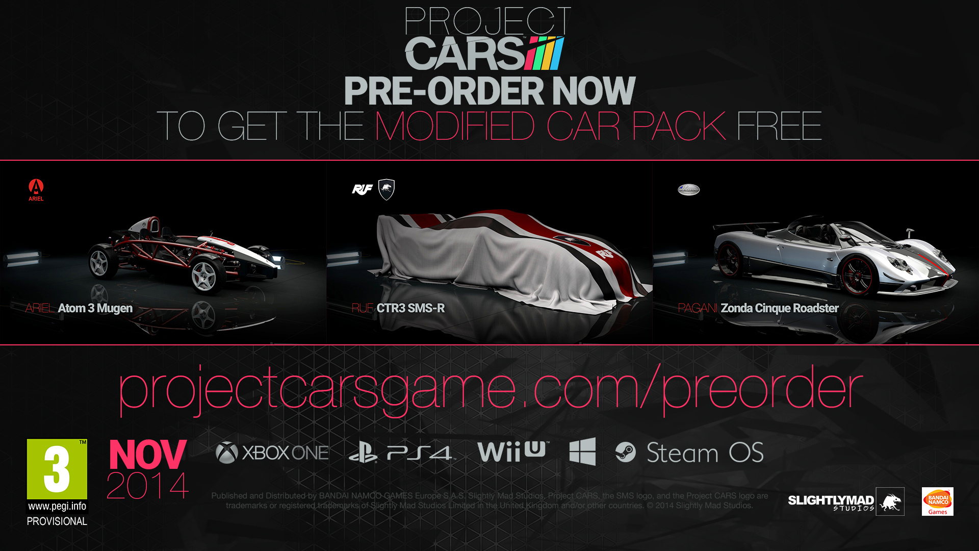 pre order and limited edition details for project cars. Black Bedroom Furniture Sets. Home Design Ideas