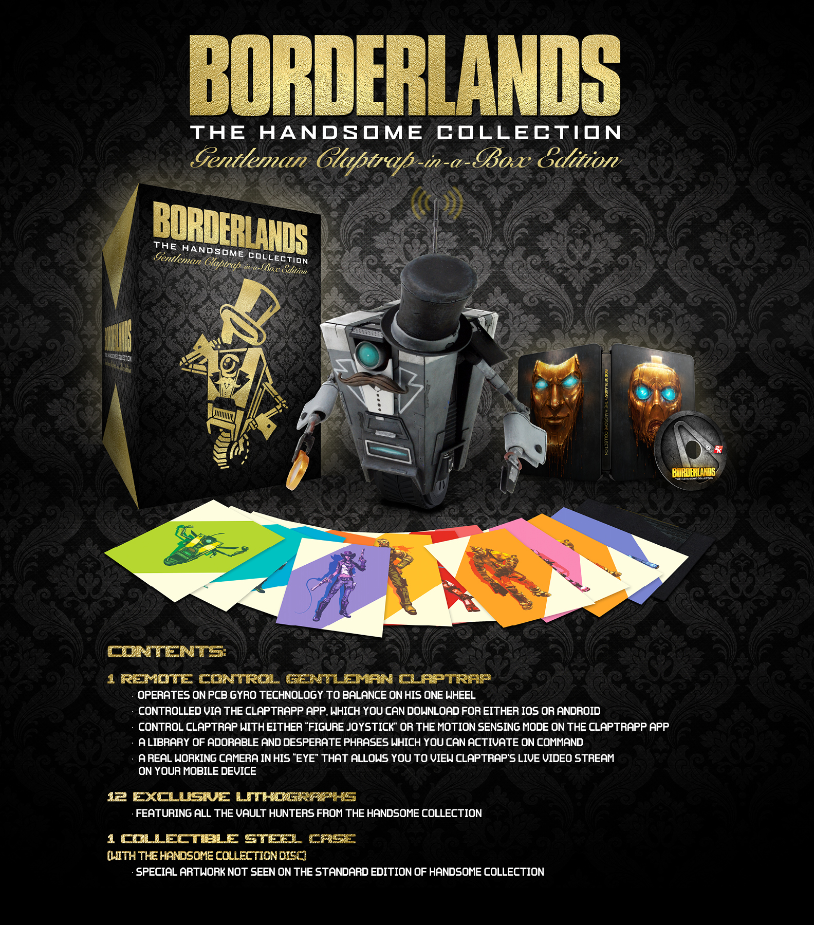 Borderlands: The Handsome Collection Gentleman Claptrap-in-a-Box