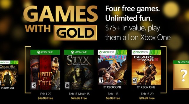 games with gold feb 2016