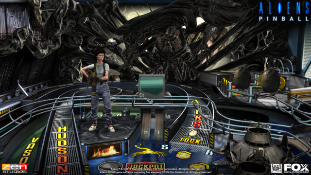 Aliens vs Pinball Launch Screenshot - 2