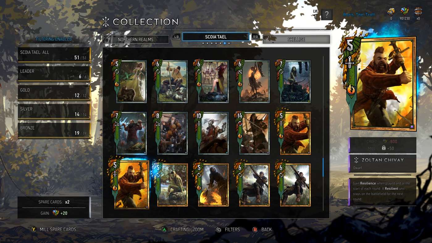 Witcher standalone card game Gwent is now in public beta