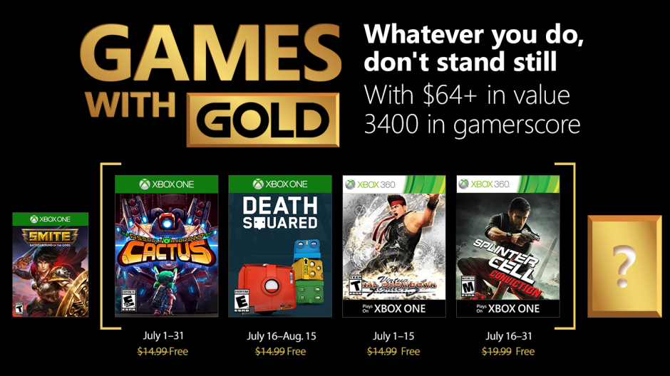 Are the free Xbox Games With Gold titles for July 2018 any