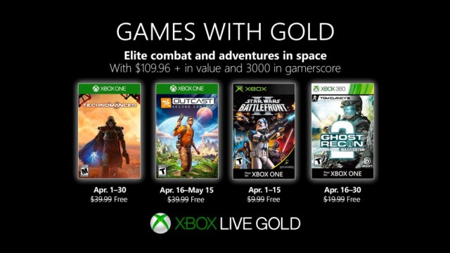 xbox games with gold april 2019