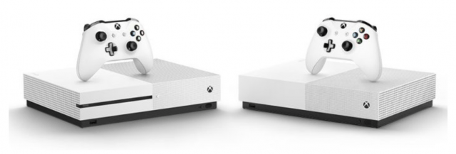 xbox one s and xbox one s all digital edition