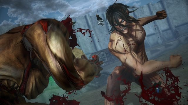 attack on titan 2 final battle Eren Titan VS Armored Titan 1