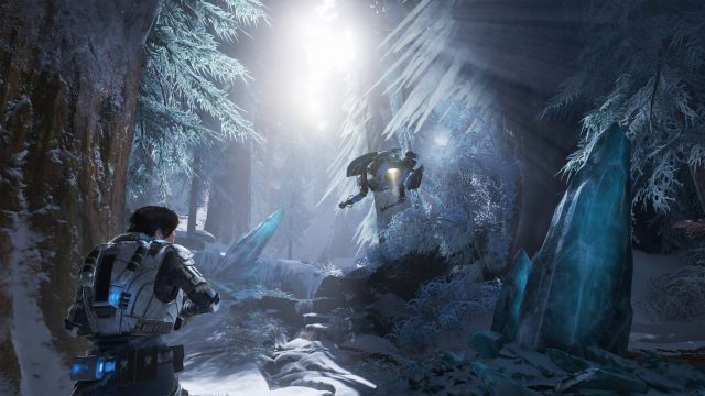 gears of war 5 ice forest
