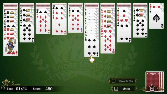 spider solitaire f xbox one