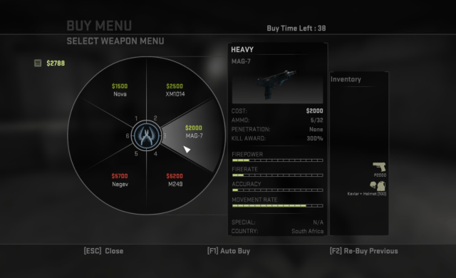 Counter-Strike Buy Menu