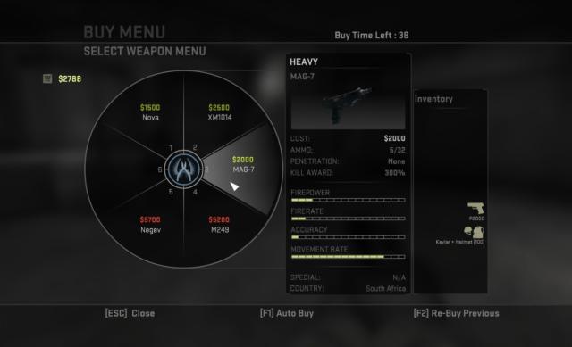 Counter-Strike Buy Menu