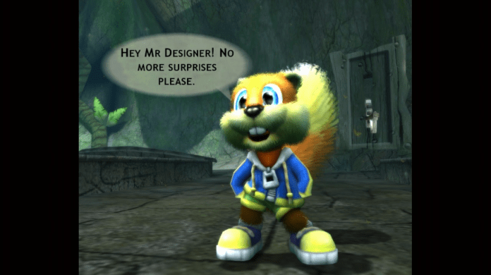 Conker: Live and Reloaded 4th Wall Breaks