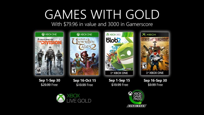 games with gold september 2020