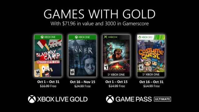 xbox games with gold october 2020