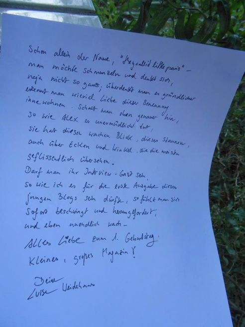 Liebesbrief_Luise Weidehaas