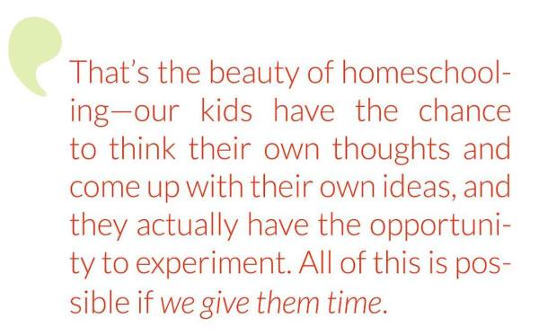 unhurried homeschooler
