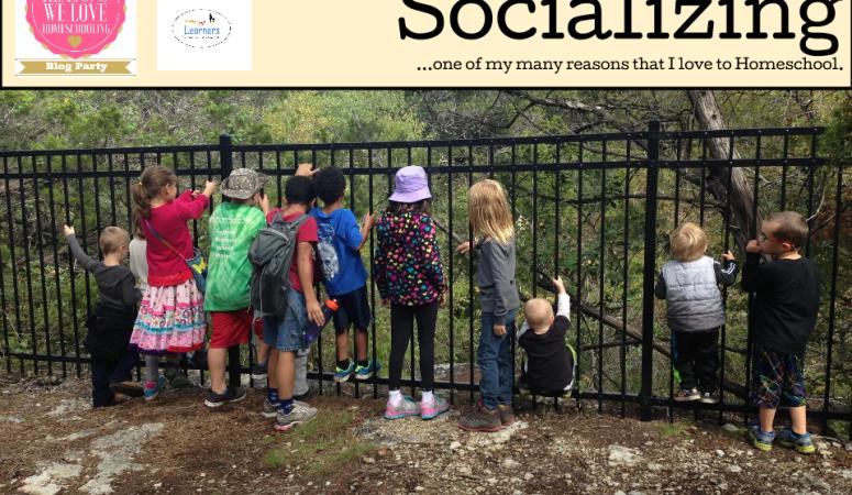 Socializing…one of my many reasons I homeschool!