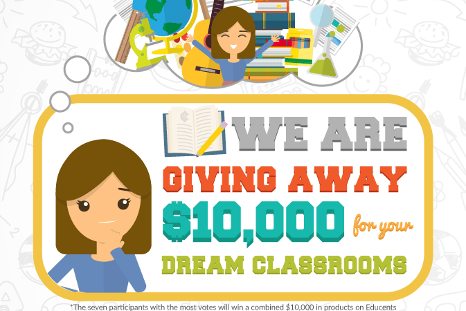 Enter to Win Your Dream Classroom – The Educents Teacher Appreciation Giveaway