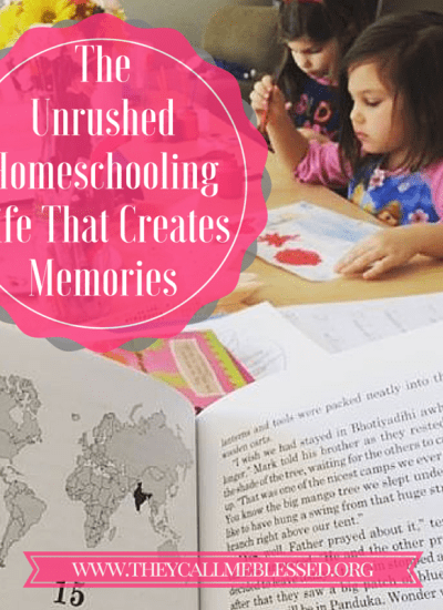 unrushed homeschooling