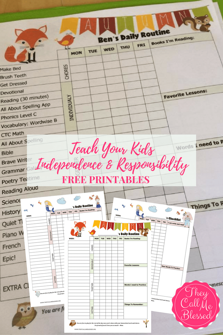 Teach Kids Independence and Responsability