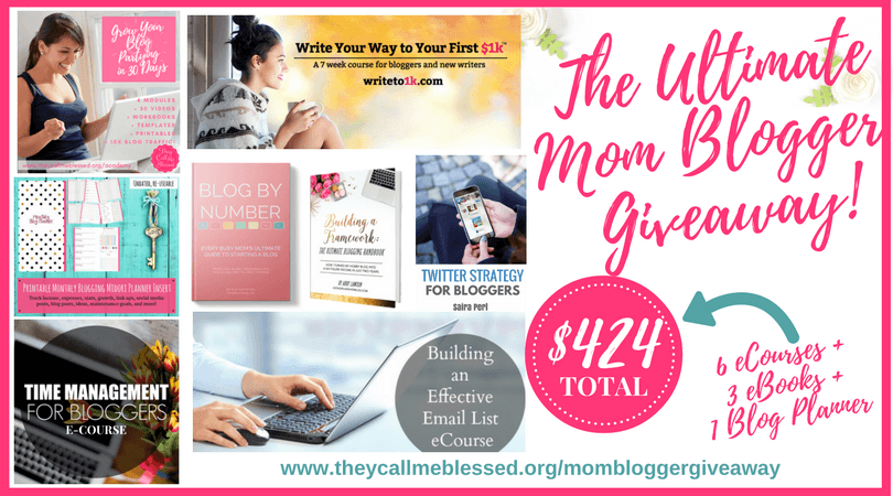 The Ultimate Mom Blogger Giveaway | The Ultimate Mom Blogger Series | blogging | blogging tips | mom blogger | wahm | mom boss | grow your blog | monetize your blog | blogging mom | blogging tools | blogging courses | blogging ebooks | blogging strategies | time management for bloggers
