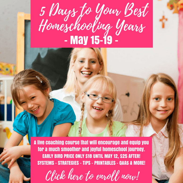 5 Days to Your Best Homeschool Years eCourse