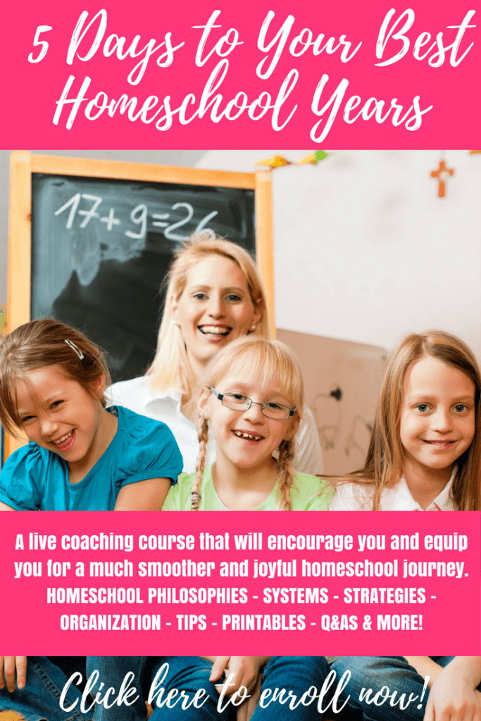 5 Days To Your Best Homeschool Years