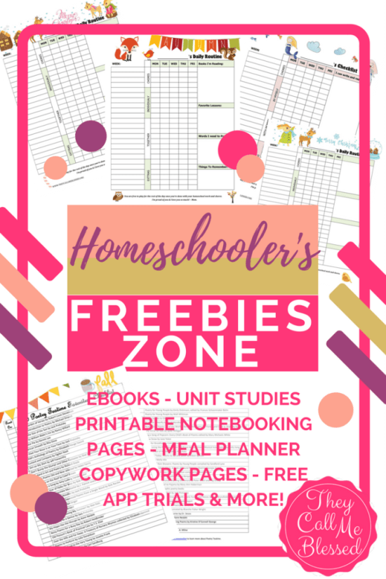 Homeschool Freebies Zone Free ebooks | Free unit studies | Free homeschool printables | Free meal planner | Free blog blueprint | Free blogging tutorial | Free homeschool lapbook | Free homeschool notebooking pages | Free homeschool apps trial | Free online unit studies | Free printable planner | Free preschool curricilum | Free homeschool music course | Free homeschool art course | Free homeschool resources | Free homeschool ebook