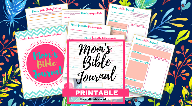 "Did you know we have a beautiful printable Mom's Bible Journal at They Call Me Blessed store? I created this printable to help me and other moms to spend more time with God in the midst of our busy life. This is what one mom has to say about this printable: ""Thank you so much! I absolutely love these journal pages! I have been wanting more than just a regular notebook for my daily devotionals and have tried to sit down and make my own but never have time! I came across this somehow and absolutely LOVE LOVE LOVE them! Thank you!"" -Ashlee 
