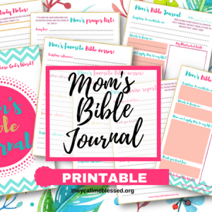"Did you know we have a beautiful printable Mom's Bible Journal at They Call Me Blessed store? I created this printable to help me and other moms to spend more time with God in the midst of our busy life. This is what one mom has to say about this printable: ""Thank you so much! I absolutely love these journal pages! I have been wanting more than just a regular notebook for my daily devotionals and have tried to sit down and make my own but never have time! I came across this somehow and absolutely LOVE LOVE LOVE them! Thank you!"" -Ashlee"