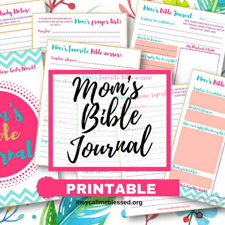 Mom's Bible Journal Letter Size Printable {Digital Product}