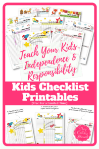 FREE Printable Routine Checklist Templates to help your kids learn independence and responsibility. | Free chores & homeschool checklist | Free homeschool checklist | Free chores checklist | Free chores printables | Free homeschool printables | Kids checklist | Kids checklist printables | Kids checklist daily routine | Kids homeschool checklist | Chores checklist for kids | Chores checklist printables | Kids weekly schedule | Kids weekly planner