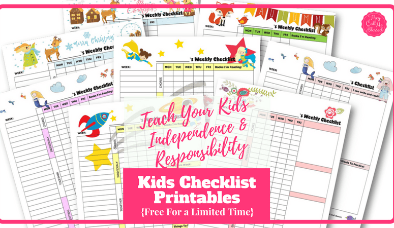 How to Teach Kids Independence and Responsibility (Free Kids' Checklist Printables!)
