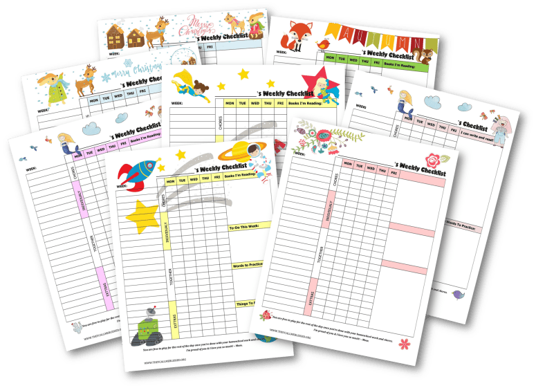 Teach kids independence: FREE Printable Routine Checklist Templates to help your kids learn independence and responsibility. | Free chores & homeschool checklist | Free homeschool checklist | Free chores checklist | Free chores printables | Free homeschool printables | Kids checklist | Kids checklist printables | Kids checklist daily routine | Kids homeschool checklist | Chores checklist for kids | Chores checklist printables | Kids weekly schedule | Kids weekly planner | Kids' Checklist Printables