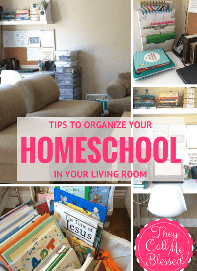 7 Tricks to Organize Your Homeschool in Your Dining Room | They Call Me Blessed - Homeschool Organization