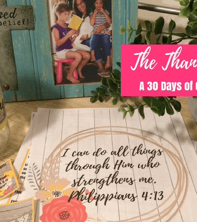 The Thanksgiving Jar – A 30 Days of Gratitude Printable